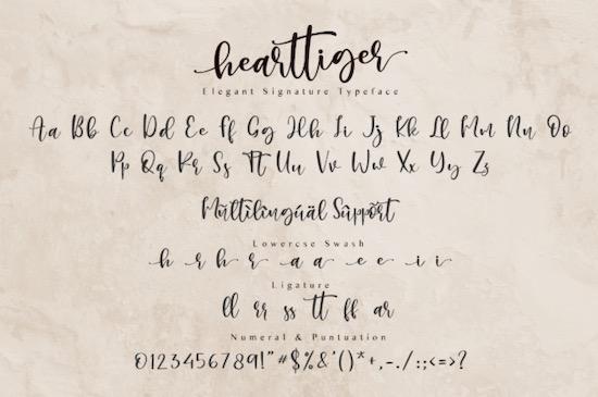 Hearttiger font free