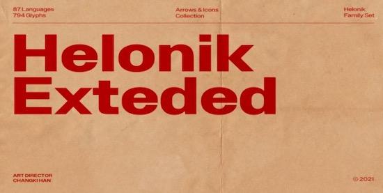 Helonik Extended font download