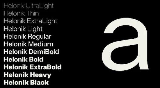 Helonik font free