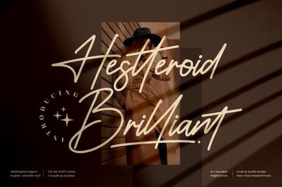 Hestteroid Brilliant font free download