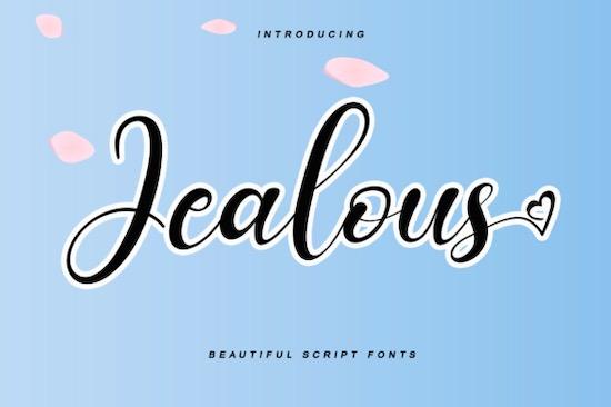 Jealous font free download
