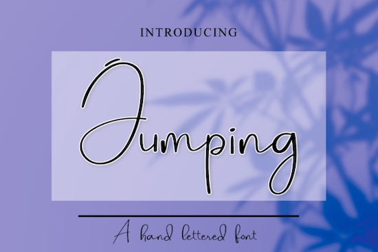Jumping font free download