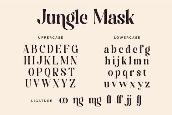 Jungle Mask font download