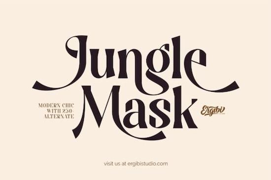 Jungle Mask font free download