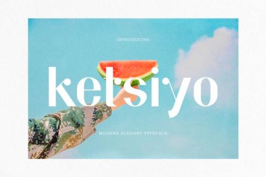 Ketsiyo font free download
