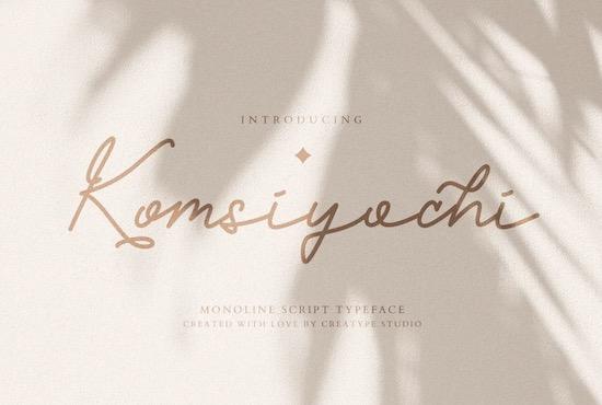 Komsiyochi font free download