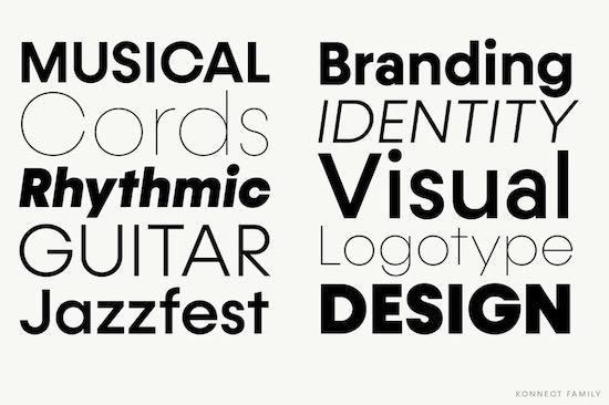 Konnect font family free