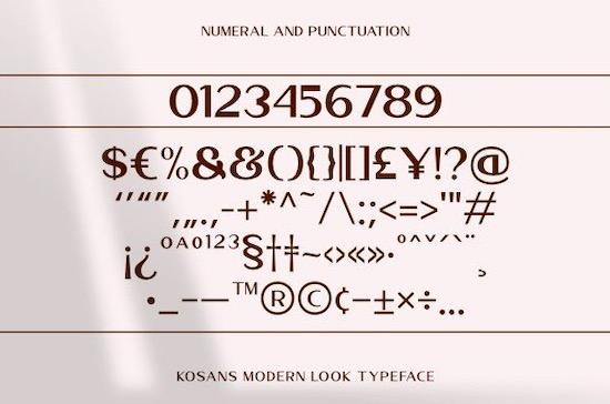 Kosans font free