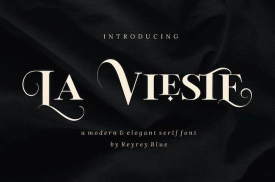 La Vieste font free download