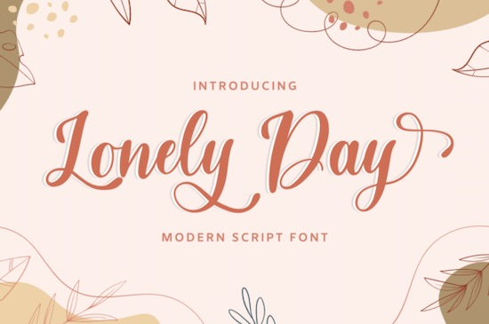 Lonely Day font free download