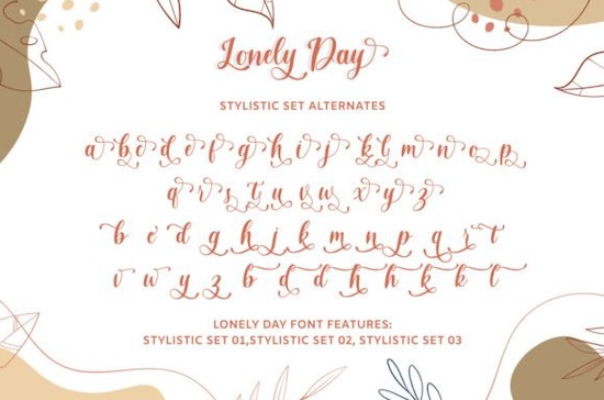 Lonely Day font free