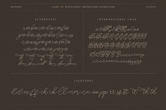 Lord of Scotland font download