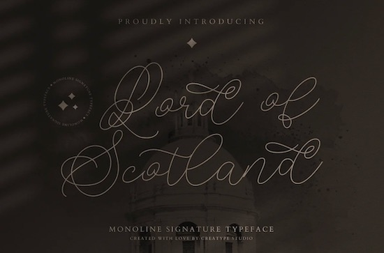 Lord of Scotland font free download