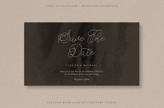 Lord of Scotland font free