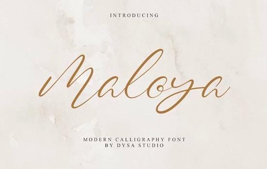 Maloya font free download