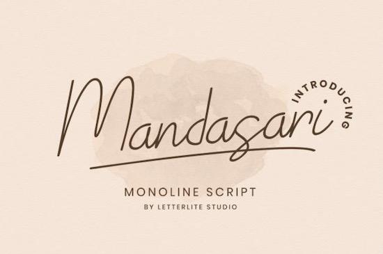Mandasari font free download
