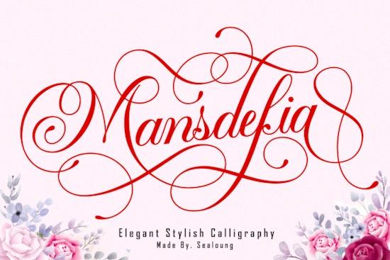 Mansdefia font free download