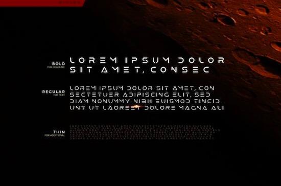 Mars font free