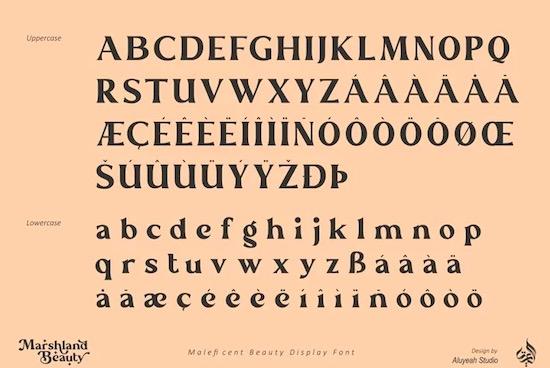 Marshland Beauty font download