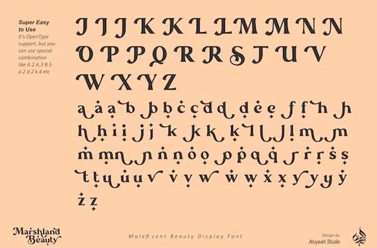 Marshland Beauty font free download