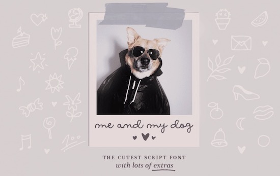 Me and My Dog font free download
