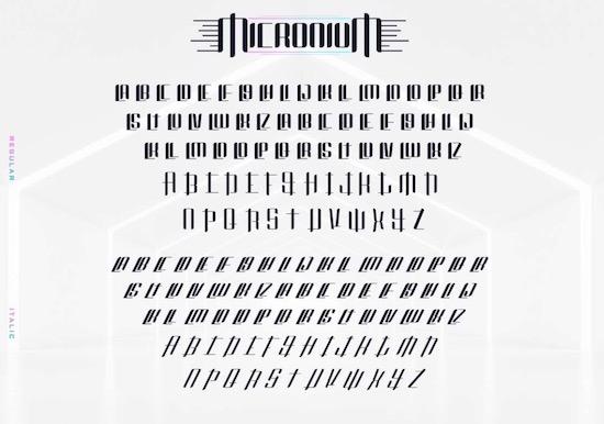 Micronium font download