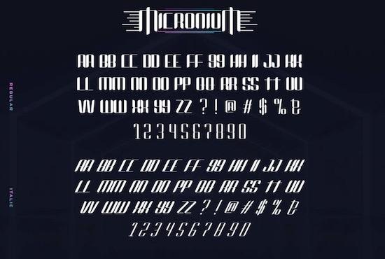 Micronium font free download