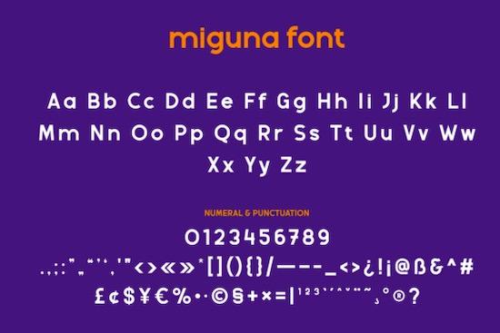 Miguna font free
