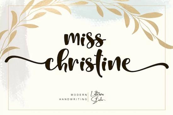 Miss Christine font free