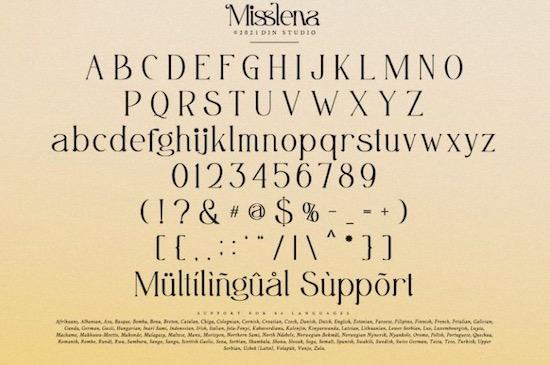 Misslena font download