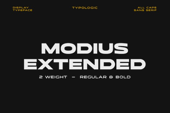 Modius Extended font free download