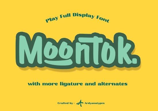Moontok font free download