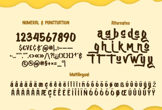 Moontok font free