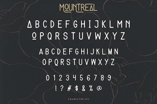 Mountreal font free download