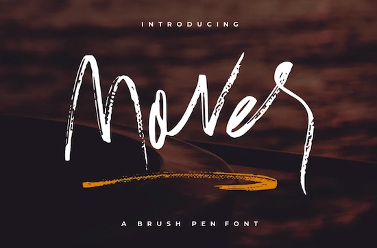 Mover font free download