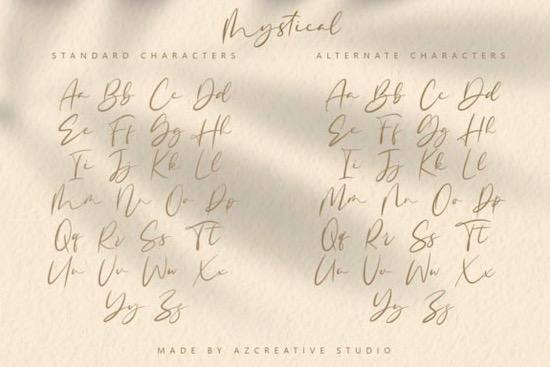Mystical font free