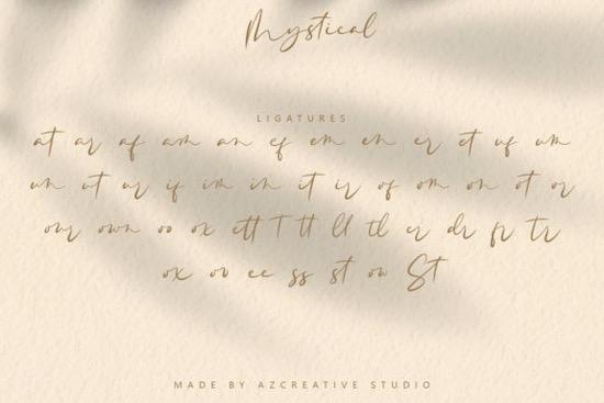 Mystical font