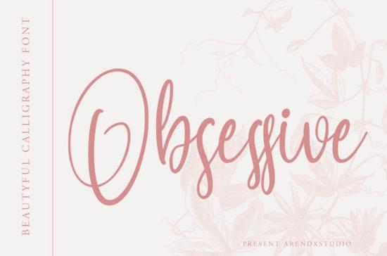 Obsessive font free download