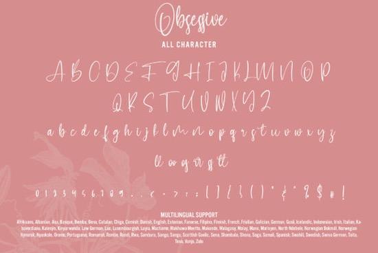 Obsessive font free