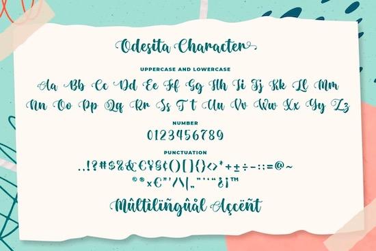 Odesita font download