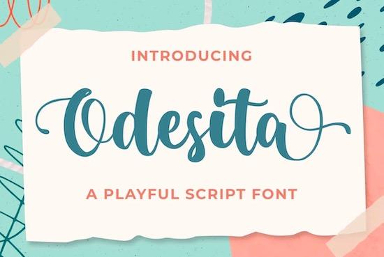 Odesita font free download