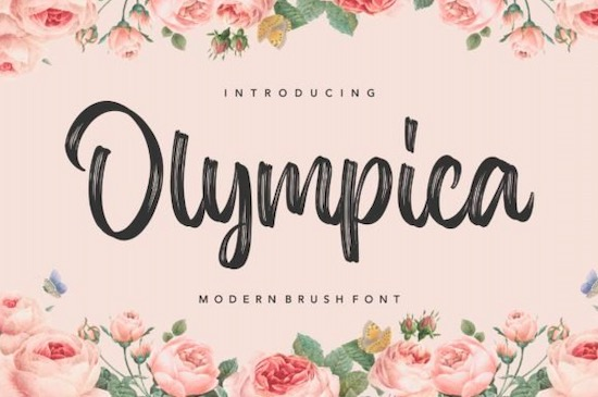 Olympica font free download