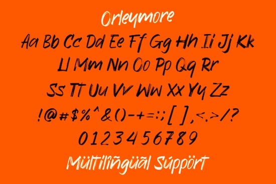 Orleymore font free