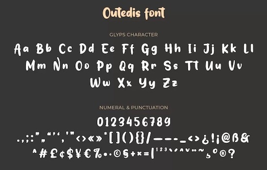 Outedis font free download