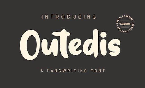 Outedis font free