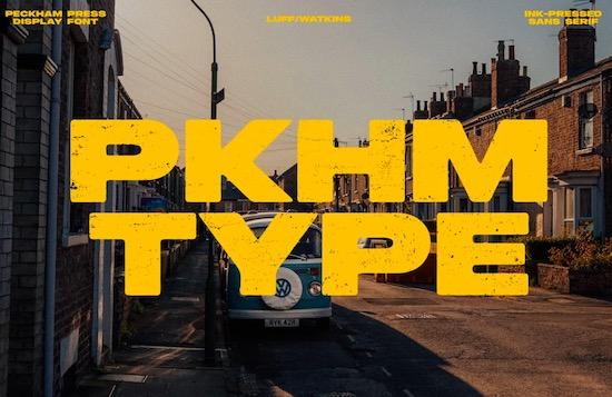 Peckham Press font free download