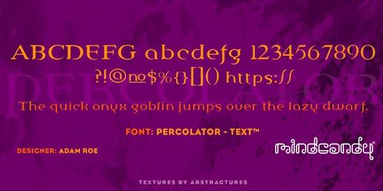Percolator™ font download