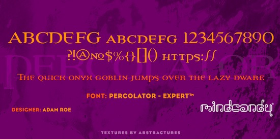 Percolator™ font free