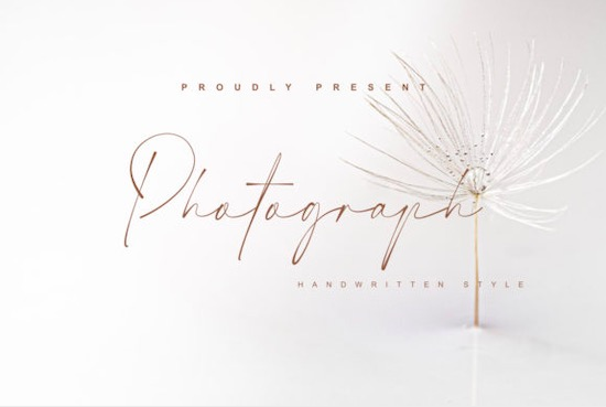 Photograph font free download