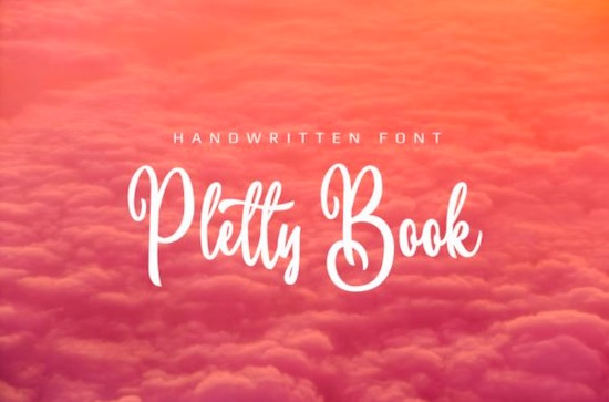 Pletty Book font free download